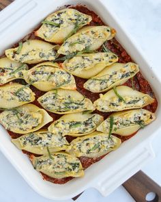 VEGAN RICOTTA & SPINACH STUFFED SHELLS - Fueled Naturally