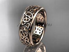 Celtic Wedding Bands, Wedding Rings, Rose Gold Apple Watch, Celtic Trinity Knot, Infinity Wedding, Gold Platinum, Rose Gold Engagement Ring, Green Weddings, Romantic Weddings