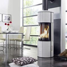 KOPPE Ofen Kaminofen Nexus Midi Kachel 7,0 kW glänzend-weiß