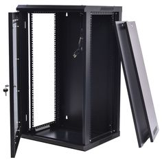 15u Wall Mount Network Server Data Cabinet Enclosure Rack Glass Door Lock W Fan