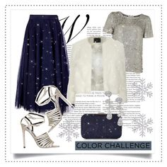 """Rock This Look: Blue and Silver"" by alaria ❤ liked on Polyvore featuring moda, Maison Scotch, Ted Baker, Little Mistress, Dorothy Perkins, Accessorize, Nadri, contestentry ve blueandsilver"
