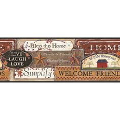 York Wallcoverings Cb5533bd Inspirational Signs Border