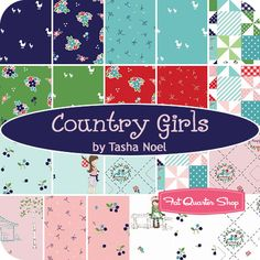 """Country Girls 10"""" Stacker Tasha Noel for Riley Blake Designs - Fat Quarter Shop Really want this...........like NOW!!!!! Lol"""