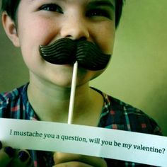 chocolate moustache.