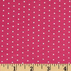 Stretch Bamboo Rayon Jersey Knit Dot Pink