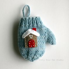 Gingerbread House Mitten Ornament - via @Craftsy