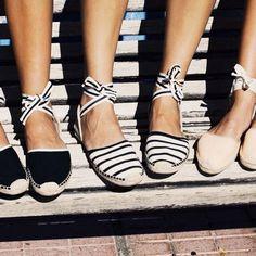 Sunday Espadrille #espadrille #stripes #beige