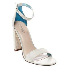 Women's Gigi Quarter Strap Dress Sandals Soft Silver 5.5 - Tevolio