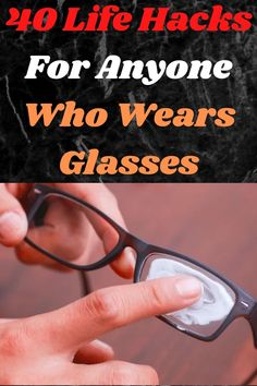 Many people are wearing glasses as part of a fashion statement, but for some, it is not an option. Life without good vision can be hard, and glasses aren't always the most elegant solution. They can fog up, slide down your nose, and cause you all sorts of grief. Here are 40 life hacks that will really help people who wear glasses. Show Dance, Amazing Life Hacks, Viral Trend, Pretty Nail Art, Fall Wallpaper, Wearing Glasses, Pinterest Pin, Diy Food, Grief