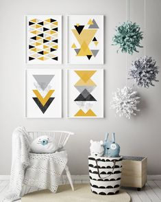 Mustard Yellow Poster Set Set of 4 Art Prints Gallery Wall Contemporary Art Prints, Scandinavian Art, Minimalist Scandinavian, Abstract Geometric Art, Art Prints Online, Nursery Curtains, Copper Art, Subtle Textures, Nursery Art