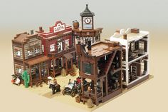 Be still my Lego heart.  Someone made this awesome lego western town and it's AMAZING!!!