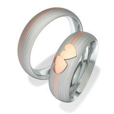 Snubní prsteny  z chirurgické oceli 7093-1