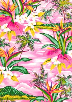 tropical pattern // This is now an archive board. See my board Patterns - floral/botanical 2 for more floral patterns!