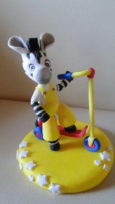 Decoracion para pastel de Zou la cebra