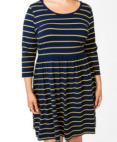 Forever 21-Striped Flared Dress-$19.80