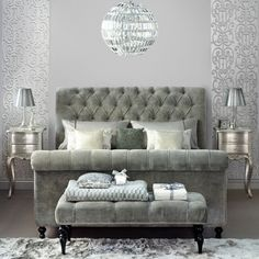 Bedroom Decor Gray buy furniture > bedroom furniture > richmond ottoman from the
