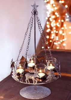 Home affaire Adventsleuchter Neu Chandeliers, Shabby, Shops, Home Collections, Candle Holders, Ceiling Lights, Candles, Lighting, Vintage