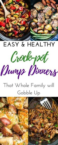 The best easy healthy slow cooker recipes! These crockpot meals are perfect for your fall dinner. Inexpensive family meals for kids and adults. These cheap and simple clean eating meals for your Crock Slow Cooker Huhn, Slow Cooker Soup, Easy Healthy Dinners, Easy Healthy Recipes, Crockpot Healthy Recipes Clean Eating, Best Crockpot Meals, Clean Eating Meals, Healthy Family Meals, Cheap Clean Eating