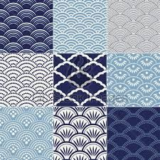 Olas japonesas azul Wave design