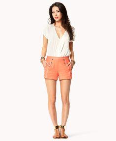 Linen-Blend Sailor Shorts outfit