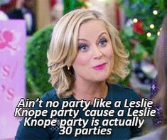 Let the birthday festivities run for the entire week! - The little thins - Event planning, Personal celebration, Hosting occasions Parks And Rec Memes, Parks And Recs, Parks And Recreation, It's Your Birthday, 17th Birthday, Sister Birthday, Happy Birthday, Malcolm, Party Quotes