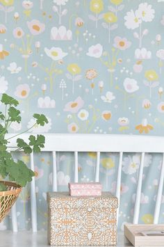 Majvillan's new Bloom Wallpaper in Grey. A delightful floral Wallpaper to brighten up a girls room. Non-Woven Wallpaper (paste the wall) Washable & Eco-Friendly Roll Size: x Repeat: Straight Match Grey Floral Wallpaper, Easy Up, Waste Paper, Wallpaper Paste, Signs, Wall Colors, Texture, Pattern, Room