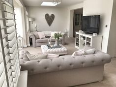 5 Ways To Update Your Living Room On A Budget – rustic French Country Living Room, Shabby Chic Living Room, Living Room On A Budget, Shabby Chic Bedrooms, Living Room Grey, Home Living Room, Living Room Furniture, Living Room Designs, Living Room Decor