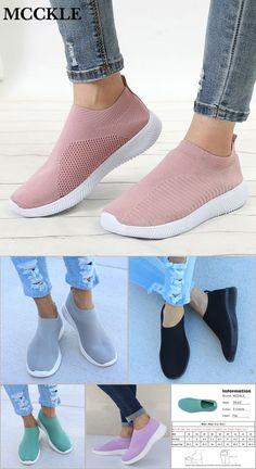 5e753dc4f70cd9 Spring Plus Size Women Casual Knitting Sock Sneakers Stretch Flat Platform  Fashion Ladies Slip On Shoes