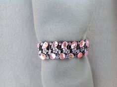 Blush Pink Crystals and Flowers covers the Flex band perfectly.