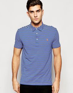Image 1 of Polo Ralph Lauren Polo Shirt with Fine Stripe Regular Fit