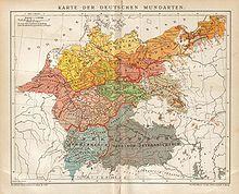 German dialects according to the Brockhaus edition): Deutsche Mundarten Map Globe, Star Chart, Old Maps, Historical Maps, Vintage World Maps, Germany, Diagram, Languages, Genetics