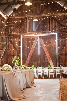 so happy were getting married in a barn :)