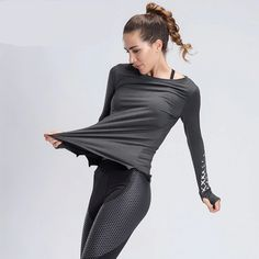Running Breathable Woman's Top Yoga Tops, Workout Tops, Sportswear, Active Wear, Gym, Long Sleeve, Fitness Top, Dresses, Running Shoes