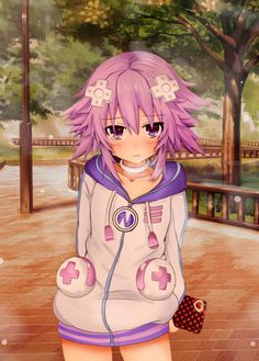 If this post get 20+ upvotes I'll quit my job. Isnt she the cutest? <3 Pic: Hyperdimension Neptunia, Neptune