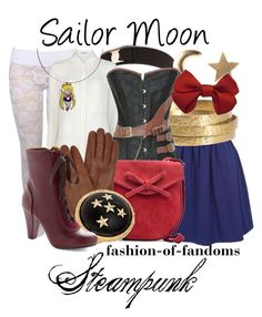 """Sailor Moon"" by fofandoms ❤ liked on Polyvore"