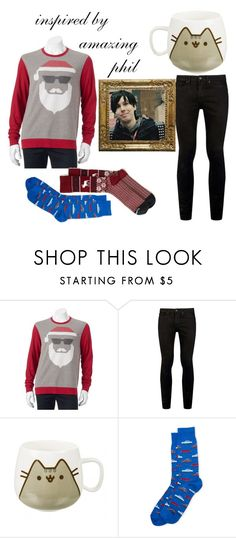 """Inspired by AmazingPhil"" by galaxy-heart on Polyvore featuring Topman, Pusheen, HOT SOX and Abercrombie & Fitch"