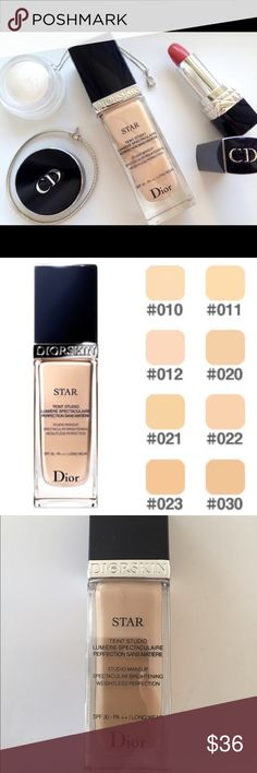Dior Star Foundation in 21 Dior star foundation in shade 21 Linen. I've used this about 5x so it's 97% Full. Wrong color for me, but the foundation itself is one of the best I've EVER Used, and I've tried them ALL! Christian Dior Makeup Foundation