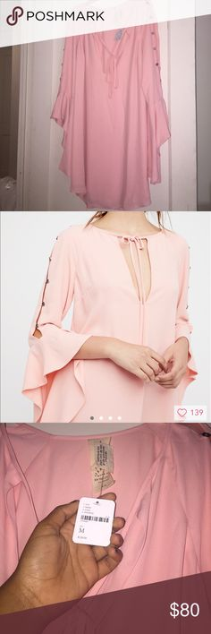 Free People Dress Brand new with tags •color:pink •mini dress •super cute sleeves Free People Dresses Mini