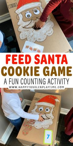 Feed Santa Cookie Game for Toddlers and Preschoolers - HAPPY TODDLER PLAYTIME