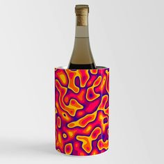 Psychedelic Lava Mountain Wine Chiller Wine Chillers, Psychedelic, Lava, Mountain, Bottle, Artwork, Crafts, Work Of Art, Manualidades