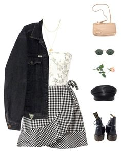 A fashion look from March 2018 by greciapaola featuring Monique Lhuillier Dr. Martens Givenchy Zimmermann RayBan and INC International Concepts Polyvore Outfits, Polyvore Casual, Polyvore Dress, Polyvore Fashion, Cute Casual Outfits, Pretty Outfits, Stylish Outfits, Teen Fashion Outfits, Grunge Outfits