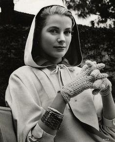 """Grace Kelly (1929-1982), in Alfred Hitchcock's film, """"Rear Window,"""" 1954"""