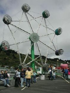The Star, best ride at the Crab Festival!  We used to try to get the cage spinning and keep it spinning the whole ride!  Then do it all over again and some how manage not to vomit, lol!