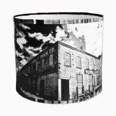 Drum fabric lampshade handmade 12x10 H. black by Gingerartlamps, $130.00