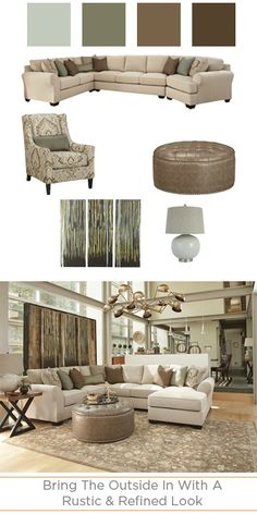 The Wilcot Collection has a rustic but refined look that brings the outdoors in for a modern and chic space!