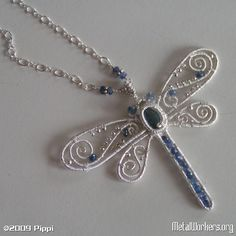 Beautiful wire wrapped dragonfly