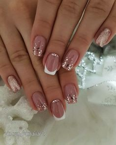 Wedding Nails-A Guide To The Perfect Manicure – NaiLovely Cute Simple Nails, Classy Nails, Perfect Nails, Pretty Nails, Bling Acrylic Nails, Best Acrylic Nails, Short Nail Manicure, Diy Nails, Elegant Touch Nails
