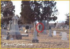 Ghost man in cemetery!
