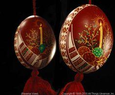 AllThingsUkrainian.com Ukrainian Easter Egg Pysanka # PYS16015