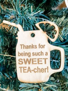So many options to choose from. These can be used as a tag on a gift & then used as an ornament later. Personalized Wood Signs, Personalized Ornaments, Teacher Ornaments, Christmas Ornaments, Wood Tray, Business Signs, Letter Wall, Sweet Tea, Name Signs